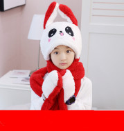Rabbit Hat Neck Cover Children's Hat Scarf Warm Suit