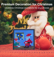 Bluetooth Portable Speaker with Clock Alarm Programmable LED Display for Pixel Art Creation Unique Gift