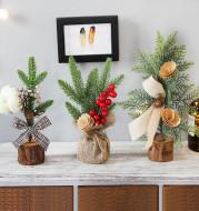 Christmas Wrought Iron Small Christmas Tree Ornaments