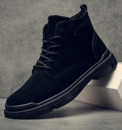 Casual leather shoes high-top boots