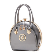 Bright leather high-end handbags noble fashion trend