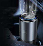 Car Air Purifier Ionizer Negative Ion Aluminum Alloy Car Air Freshener Activated Carbon Formaldehyde Auto Air Clean Accessories