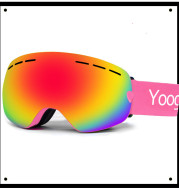 Adult double-layer ski goggles