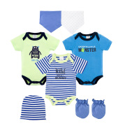 Baby Crawling Suit Short-Sleeved One-Piece Multi-Piece