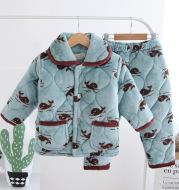 Cotton children's flannel pajamas