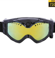 Ski-Sunglass Goggles Sports Camera Black Colorful Double Anti-Fog Lens with Live Image Video Monitoring with TF Card