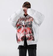 Digital Printing Men's Cotton Coat Couple Oversize Top
