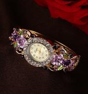 Fashion diamond flower lady
