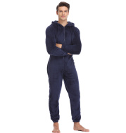 Men's autumn and winter warmth one-piece pajamas