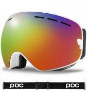 POC double anti-fog ski goggles