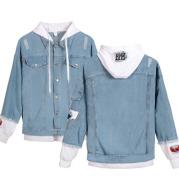 New Fashion Custome Denim Jacket Fake two pieces Coat Unisex