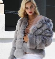 New faux furry slim mink jacket short faux fur fur coat female
