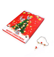 Christmas Ornaments Calendar Gift Box Emoji Bag Bracelet Earring Set DIY Gift