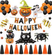 Halloween Pumpkins Balloon Decoration Bat Helium Balloons Halloween Home Decoration