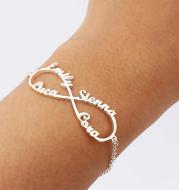 Fashion 8 character infinity Name Bracelet