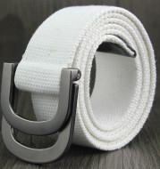 Double-loop buckle D canvas belt