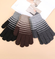 Winter gloves thick wool non-slip warm all-finger woolen gloves
