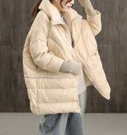 Thickened white duck down coat