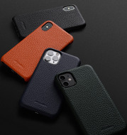 Leather anti-fall protective cover phone case