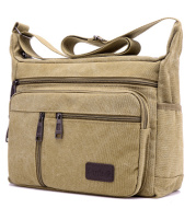 Canvas bag men's horizontal shoulder bag