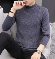 Men's cashmere padded sweater