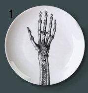 Human bone structure decoration plate