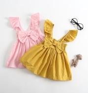 Fly sleeve bow dress