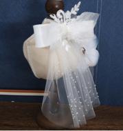 Bridal Headdress Handmade Beaded Silk Yarn Hair Accessories