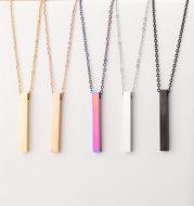 3D Engraved Bar Necklace