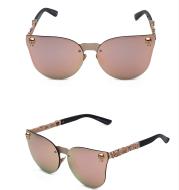 Gothic new reflective sunglasses men and women tide personality metal large box sunglasses taro decorative glasses