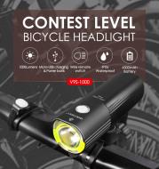 Waterproof Bicycle Bike Headlight 1000/1600/1800 Lumens Power Bank