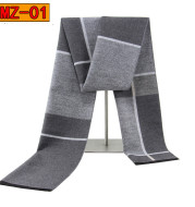 Men's warm winter thick plaid scarf