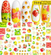 3D adhesive sticker color