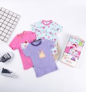 Buttoned Children's T-shirt 5 Packs ins Cartoon Cotton Cute T-Shirt Baby T-Shirt