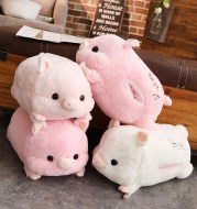Plush toy bar soft pink pig