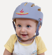Baby Safety Helmet Toddler Headguard Hat Protective Infants Soft Cap Adjustable for Crawl Walking Running Outdoor Playing