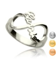Sterling Silver Infinity Ring Jewelry Personalized Name Custom Ring