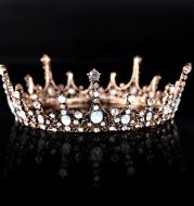 Silver Rhinestone Crown Wedding Accessories Headband
