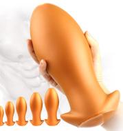 Super Soft Backyard Masturbation Device For Men and Women Liquid silicone Dragon Egg-Shaped Anal Plug Adult Sex Toys