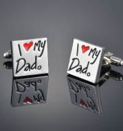 Love French Shirt Cufflinks Male Father's Day Gift