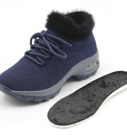 Plush warm flat-bottomed fur shoes Comfortable female personality fashion lace-up lazy shoes