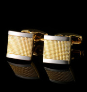High Quality Gold French Cufflinks Men's Suit Shirt Cuff Buttons