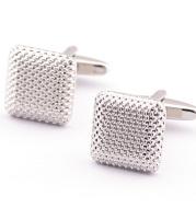 Simple Dense Pattern Checkered Cufflinks Dot Pattern Metal Cufflinks
