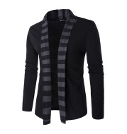 Men's Fashion Trendy Color Contrast Striped Stitching Sweater