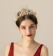 Multi-layer Rice Beads Rhinestone Bridal Headwear