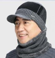 Men's Hat Plus Velvet Thick Knitted Hat