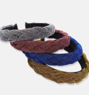 European and American New Bright Silk Headband