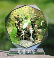 Custom Crystal Photo, 8 angles, Photo and Words Included, Memory Gifts