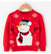 Christmas Snowman Pullover bottomed T-shirt for Children