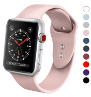 Silicone band for iPhone Watch 38mm 42mm 40mm 44mm Replacement Sport Strap Rubber Wristband for iwatch series 4 3 2 1 watchband